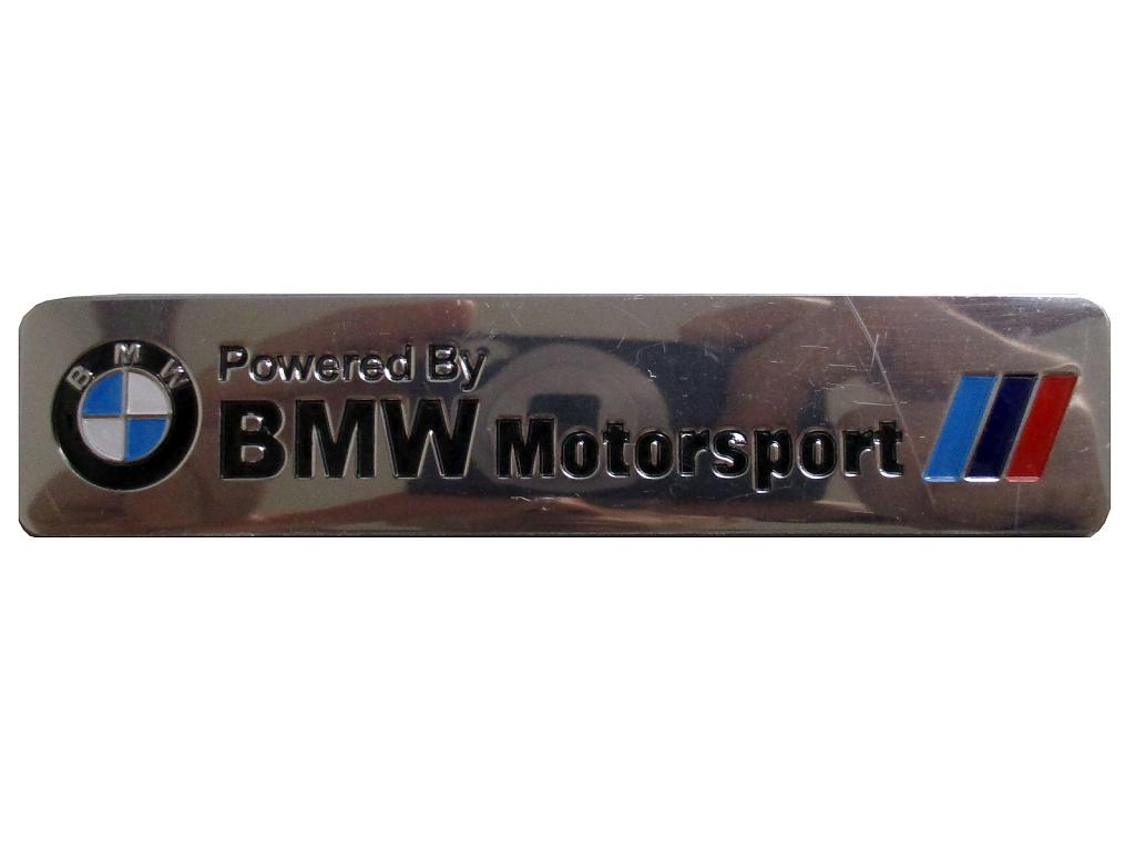 Samolepící znak Powered by BMW Motorsport
