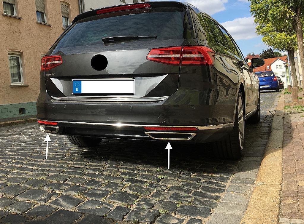Nerez Chrom Koncovky Vyfuku Volkswagen Passat B8 Spoilercentrum Online Tuning Shop