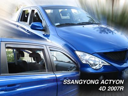 Deflektory-ofuky oken Ssangyong Actyon Sports