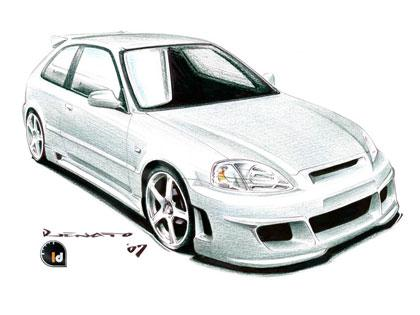 Body kit Honda Civic - Eagle RXX Hatchback