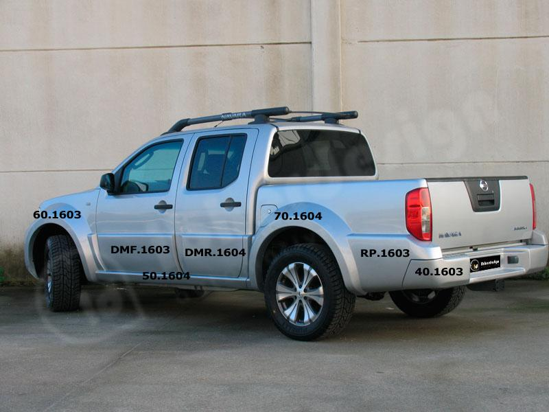 Body kit Nissan Navara - Tangier Wide Crew Cab